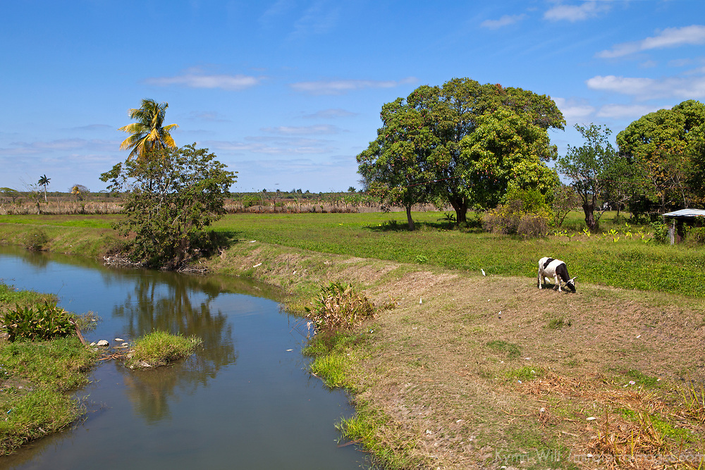 Central America, Cuba, Remedios. Farmlands of rural Cuba.
