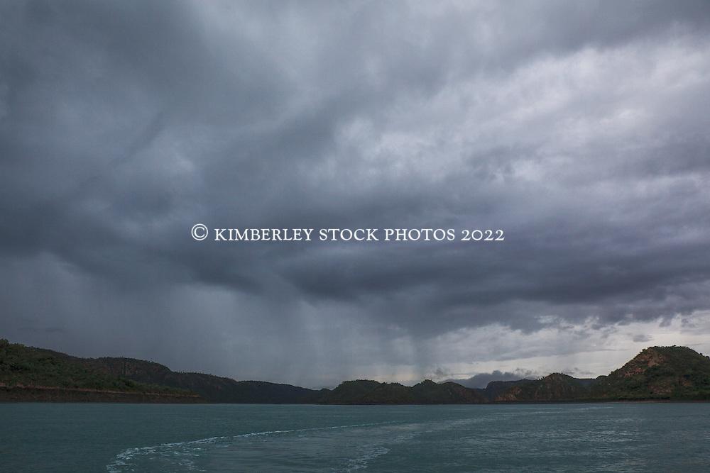 Storms bring rain to Dugong Bay in the Kimberley wet season.