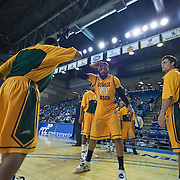 02/01/12 Newark DE: George Mason Senior Forward Ryan Pearson #24 is introduced to the crowed prior to the start of a Colonial Athletic Association conference Basketball Game against Delaware Wed, Feb. 1, 2012 at the Bob Carpenter Center in Newark Delaware.