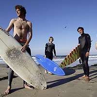 The University of California, Santa Barbara surf team. Photographed for Sports Illustrated.. Model Released