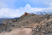 Buddhist Temple on top of a hill in Ladakh, India
