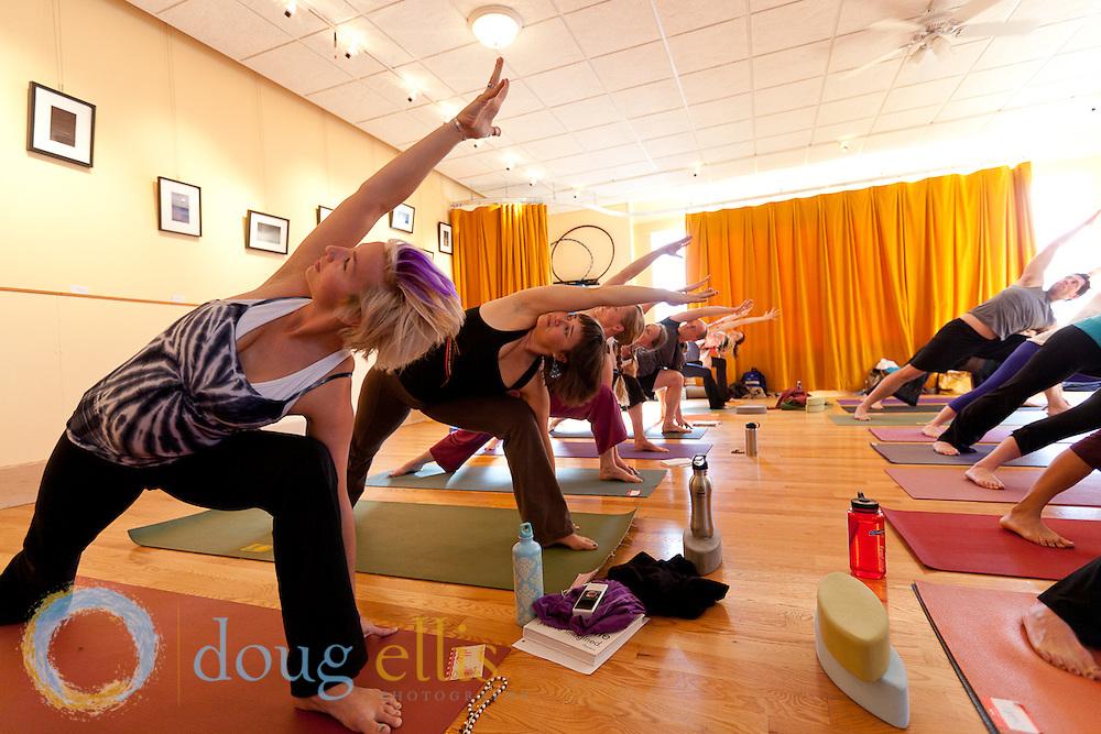 Yoga Poses by Yoga Teachers at the Anusara Teacher Training