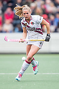 AMSTERDAM - Amsterdam - Den Bosch , Wagener Stadion , Hockey , Play-off hoofdklasse hockey , 03-05-2015 , Amsterdam speelster Kitty van Male