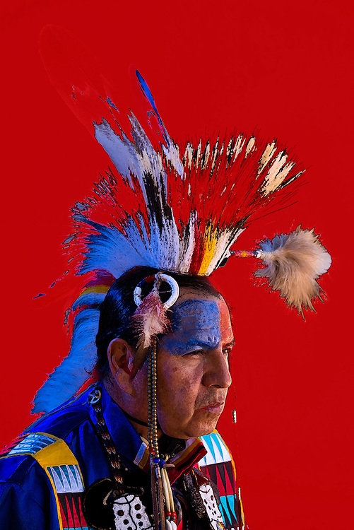 USA, American indian portrait of a Lakota, Sioux man, Jim Yellowhawk, MR<br /> <br /> 9,7,3