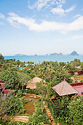 View of the Ritz-Carlton Reserve and Phangna Bay limestone islands.