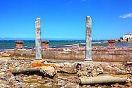 Hurricane destroyed houses in Playa Baracoa, Artemisa, Cuba.