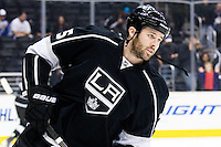 Dustin Penner (Los Angeles Kings, #25) at warm up during ice-hockey match between Los Angeles Kings and Phoenix Coyotes in NHL league, March 3, 2011 at Staples Center, Los Angeles, USA. (Photo By Matic Klansek Velej / Sportida.com)