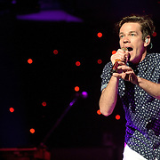 "WASHINGTON, DC - January 31st,  2013 - Nate Ruess of fun. performs at DAR Constitution Hall in Washington, D.C. The band is still riding high off of the success of their sophomore album ""Some Nights"" which featured with hits ""We Are Young"" and the title track. (Photo by Kyle Gustafson/For The Washington Post)"