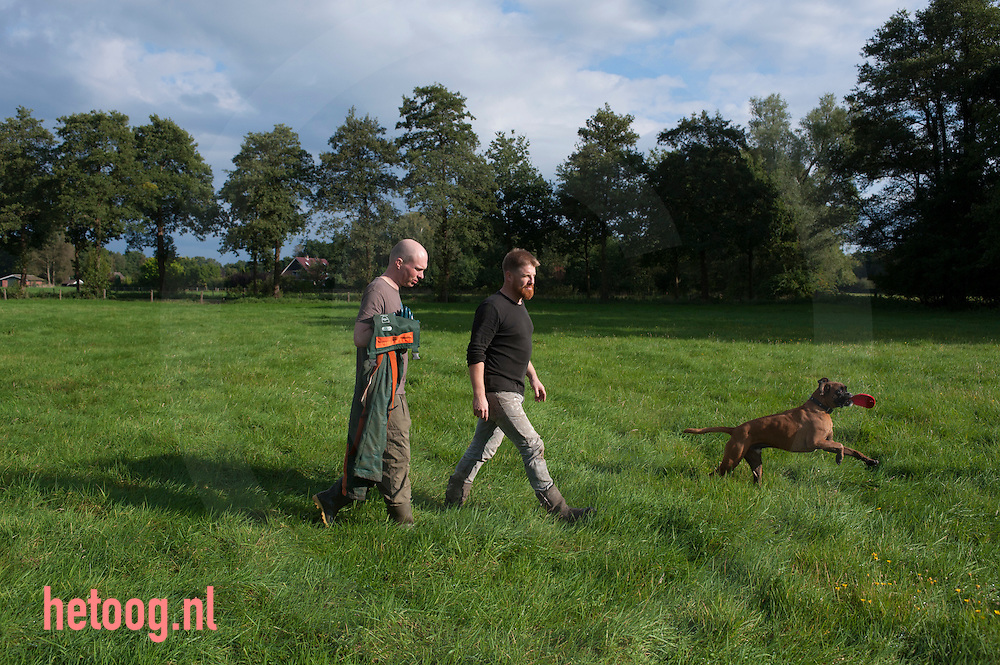 The Netherlands, Nederland 19sept2015 boswerk op 'Aamsborgh'