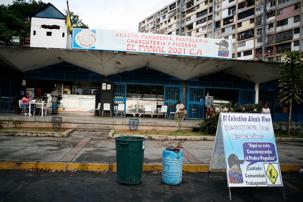 A bakery in 23 de Enero setup by the Alexis Vive collective to raise funds for the group.