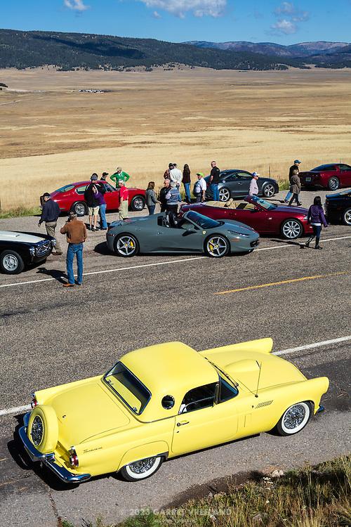 The Thunderbird glows even more than the Valle Caldera itself. On the 2012 Santa Fe Concorso High Mountain Tour.