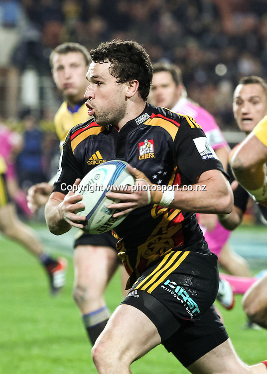 Chiefs' Tom Marshall in action during the Super 15 Rugby match - Chiefs v Hurricanes at Waikato Stadium, Hamilton, New Zealand on Friday 4 July 2014.  Photo:  Bruce Lim / www.photosport.co.nz