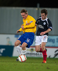 Cowdenbeath's Liam Callaghan and Falkirk's Thomas Grant..Falkirk 2 v 0 Cowdenbeath, 15/12/2012..©Michael Schofield.