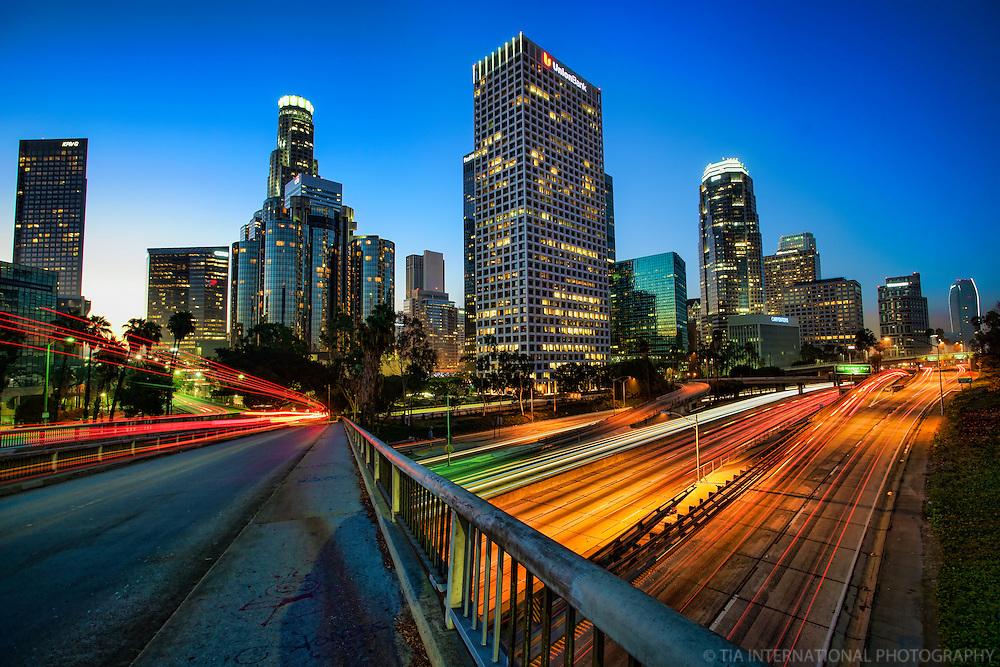 Downtown LA & Harbor Freeway @ Sunrise