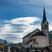 Fiesch is a municipality in the district of Goms in the canton of Valais, Switzerland. The Alps, Europe.