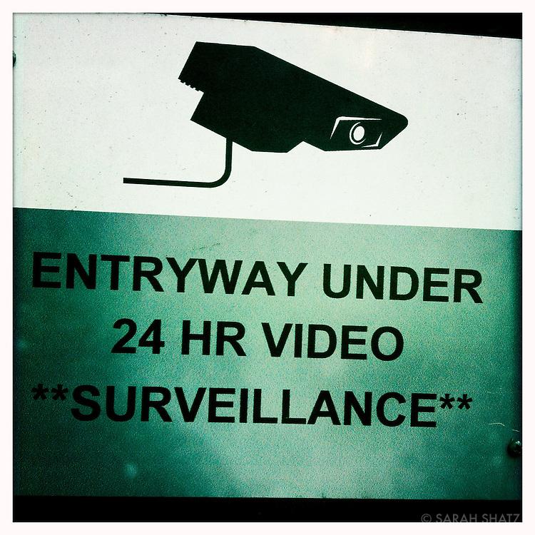 Entryway under 24 HR video **surveillance**