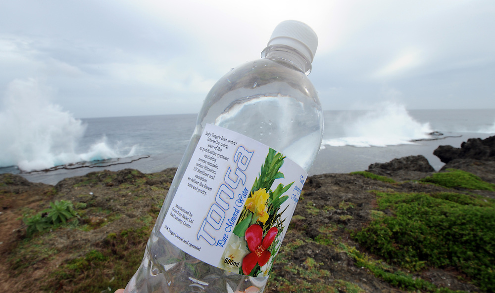 Tonga water, Houma Blowholes, Pacific Mission 2012, Nuku'alofa, Tonga, Tuesday, July 24, 2012. Credit:SNPA / Ross Setford