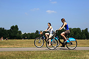 "Girls riding on ""Bozza"" Bikes in London's Hyde Park"