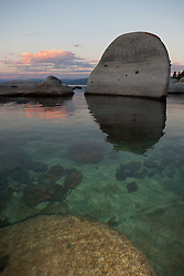 """Tahoe Boulders at Sunrise 6"" - These boulders were photographed at sunrise near Speedboat Beach, Lake Tahoe."