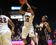 "Ole Miss' Whitney Hameth (30) vs. Central Michigan at C.M. ""Tad"" Smith Coliseum in Oxford, Miss. on Wednesday, December 14, 2011."