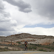 SHOT 5/6/16 2:46:23 PM - Moab is a city in Grand County, in eastern Utah, in the western United States. Moab attracts a large number of tourists every year, mostly visitors to the nearby Arches and Canyonlands National Parks. The town is a popular base for mountain bikers and motorized offload enthusiasts who ride the extensive network of trails in the area. Includes images of Scenic Byway 128, Fisher Towers and downtown Moab. (Photo by Marc Piscotty / © 2016)