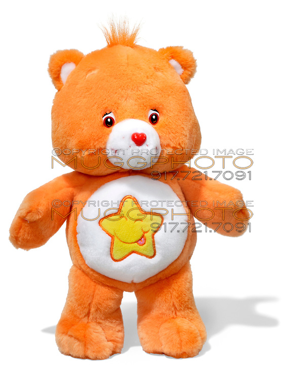 orange carebear with yellow star