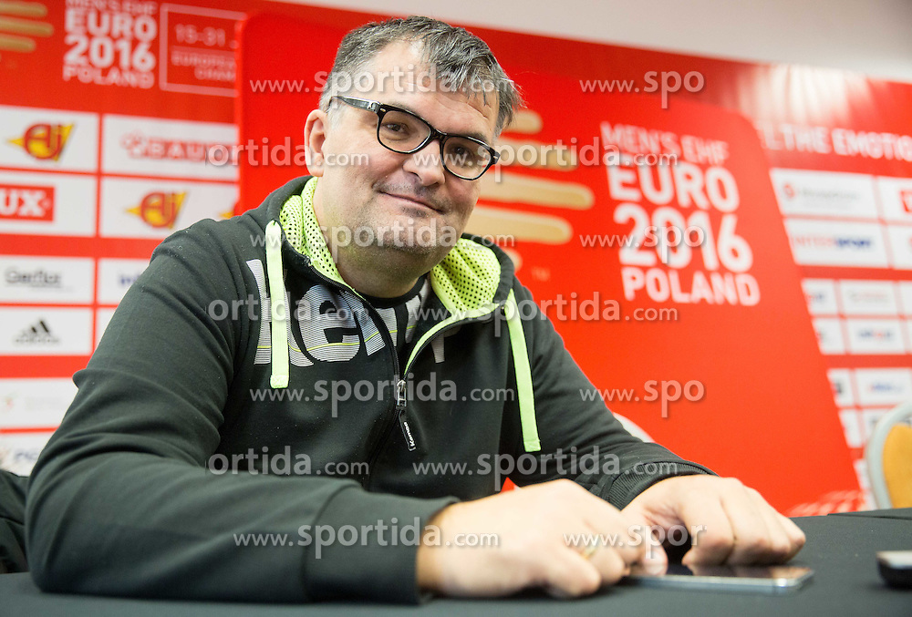 Goran Cvijic, secretary general of RZS during press conference of Team Slovenia on Day 1 of Men's EHF EURO 2016, on January 15, 2016 in Hotel Mercure Wrocław Centrum, Wroclaw Poland. Photo by Vid Ponikvar / Sportida