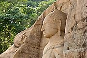 Sri Lanka, Polonnaruwa, Buddha at Gal Vihara.