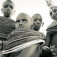 Samburu women watching warriors dance