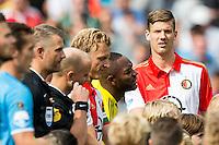 ROTTERDAM - Feyenoord - Willem II , Voetbal , Seizoen 2015/2016 , Eredivisie , Stadion de Kuip , 13-09-2015 , Speler van Feyenoord Michiel Kramer zijn eerste basis plaats