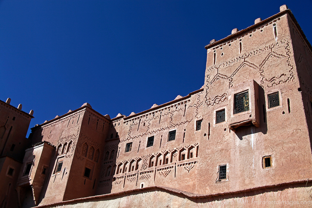 Africa, Morocco, Ouarzazate. Taourirt Kasbah near Ouarzazate,  historical palace partially restored by UNESCO.
