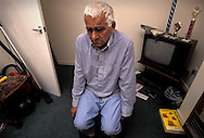 Mohamed Iqbal, 70, from Tipton, Birmingham, father of Asif Iqbal, 20 who was captured in Afghanistan in 2001 and accused of fighting for the Taliban. Asif is being detained by the US at the Guantanamo Bay military base at the edge of Cuba. Photographed at the family home in Tipton in the East Midlands, UK.