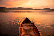 Canoeing on Maidstone Lake, Vermont