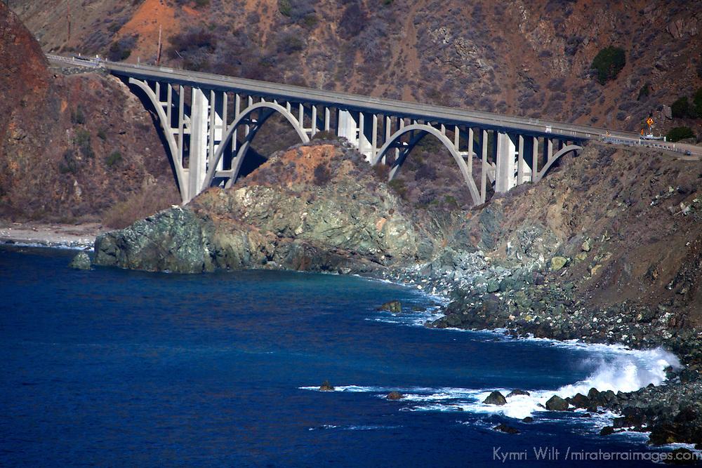 USA, California. Bridge of Pacific Coast Highway 1.