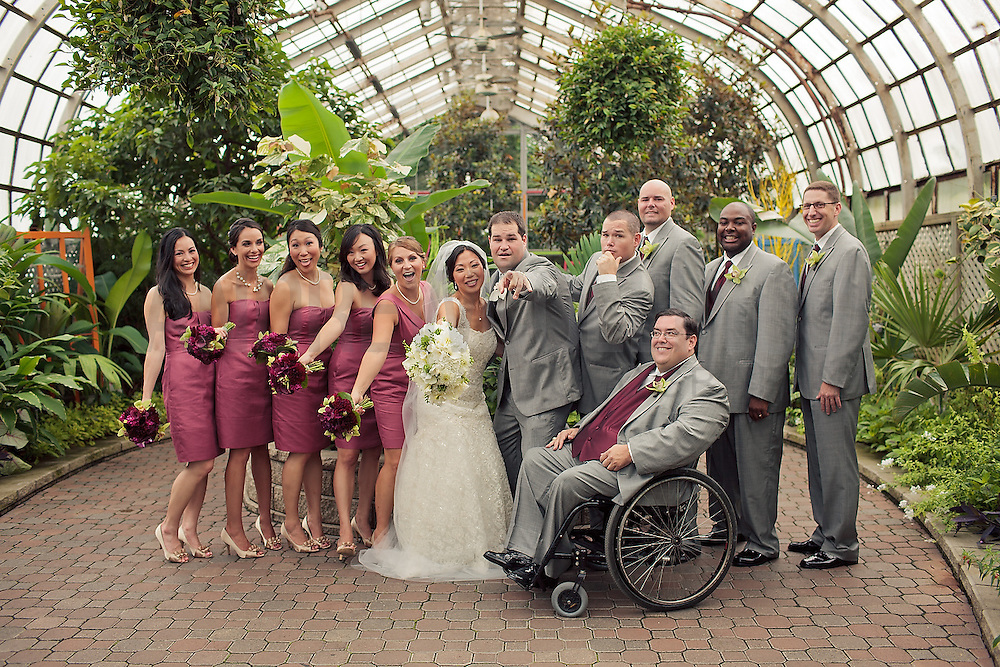 Lincoln park zoo conservatory wedding