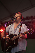 June 18, 2006; Manchester, TN.  2006 Bonnaroo Music Festival. . Steve Earle performs live at Bonnaroo 2006.  Photo by Bryan Rinnert