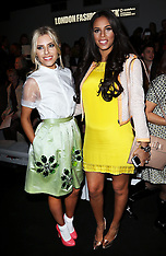 FEB 16 2013 Celebrities at London Fashion Week A/W 13