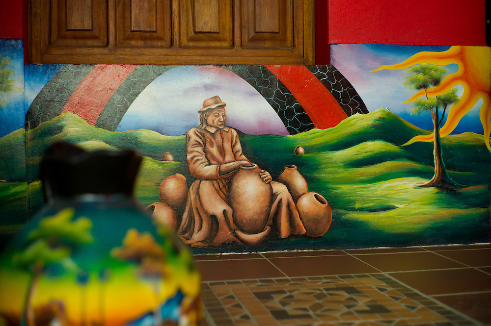 Mural in Ráquira, Boyacá, Colombia.