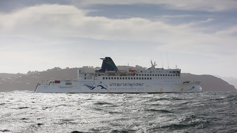 Interislander ferry at the Wellington restart of Round North Island two-handed yacht race. Wellington, New Zealand. 2 March 2011. Photo: Gareth Cooke/Subzero Images