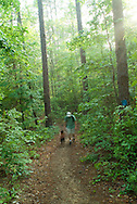 Father and Son, Hiking in Sumter National Forest, South Carolina