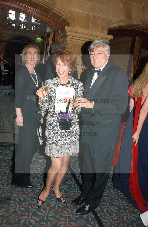 Left to right, PRINCESS ANNI-FRID REUS VON PLAUEN she was Frida from pop group ABBA, writer KATHY LETTE and her husband GEOFFREY ROBERTSON QC at a gala dinner in the presence of HM Quenn Silvia of Sweden and HM Queen Noor of Jordan in aid of the charity Mentor held at the Natural History Museum, Cromwell Road, London on 23rd May 2006.<br /><br />NON EXCLUSIVE - WORLD RIGHTS