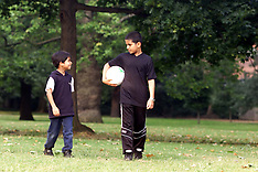 AUG 25 2000 Children Playing Football