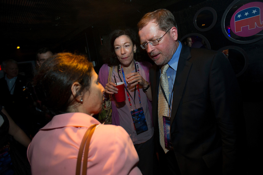 Grover Norquist makes an appearance at Homocon 2012, a party put together by gay conservative group GOProud, on Tuesday, August 28th, 2012 in Tampa. (Photo by Jay Westcott/Politico)