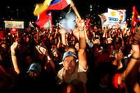 Caracas - Giorno della dignita' per la rivoluzione Bolivariana, si festeggia il referendum che ha iniziato il Chavismo