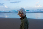 Woman on a beach, NSW, Australia