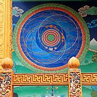 Asia, Bhutan, Punakha. The Cosmic Mandala at Punakha Dzong.