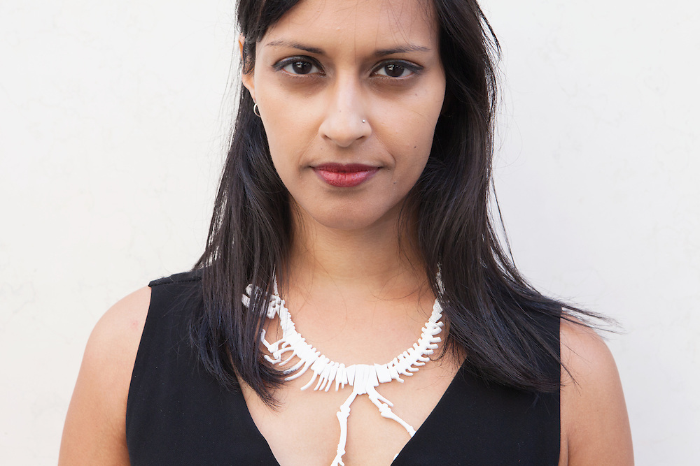 Ferrara, Italy, October 3, 2014. Nija Dalal-Small, Indian-American writer and radio producer. She produces radio for the BBC and is co-editor of the literary website The real story.