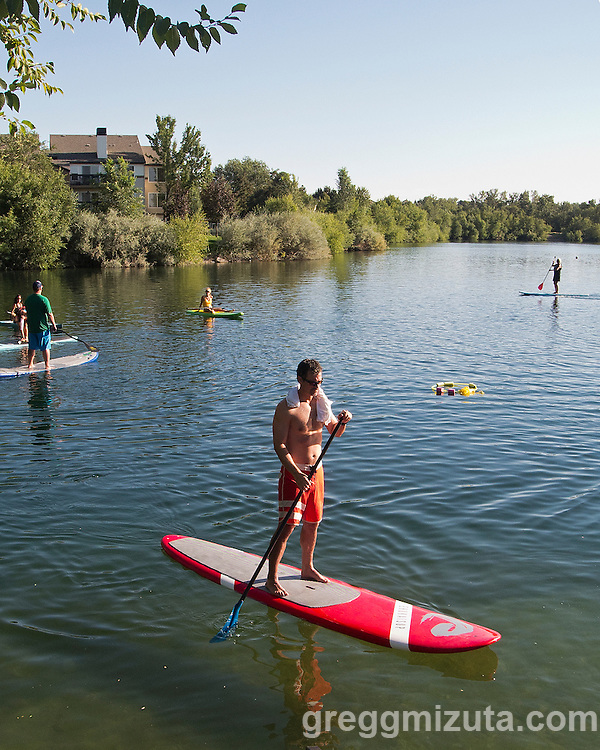 Western Capital Bank's first annual SUP & SIP event at Quinn's Pond and Idaho River Sports in Boise, Idaho on September 5, 2012.