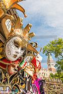 Carneval Masks, Campanile, San Marco, Venice, Venetia, Italy