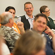 Students and faculty work, play and discuss in the classroom as part of Gonzaga's Doctoral Leadership Program.<br /> <br /> Photo by Rajah Bose